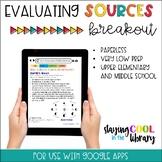 Evaluating Sources Digital Breakout