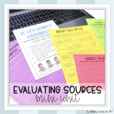 Evaluating Sources Mini Unit