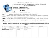 Evaluating Text  Graphic Organizer