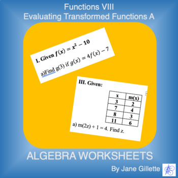 Evaluating Transformed Functions A