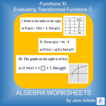 Evaluating Transformed Functions C