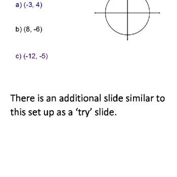 Evaluating Trigonometric Functions SmartBoard Lesson