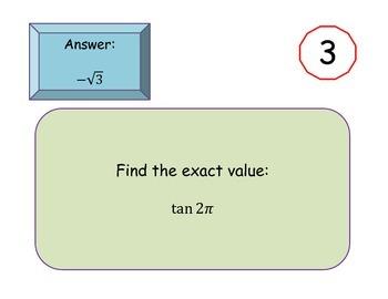 Scavenger Hunt: Evaluating Trigonometric Functions on the Unit Circle