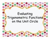 Scavenger Hunt: Evaluating Trigonometric Functions on the
