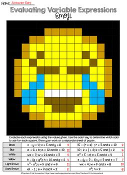 Evaluating Variable Expressions Emoji