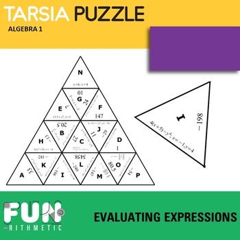Algebraic Expressions With Variables Puzzles Worksheets