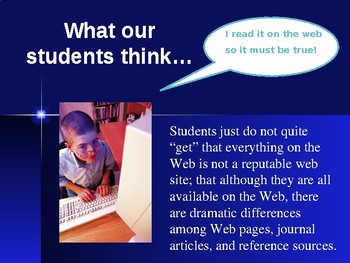 Evaluating Website Sources PowerPoint