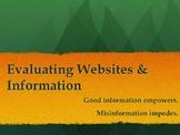 Evaluating Websites & Information