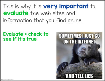 Evaluating Websites PowerPoint and Activities