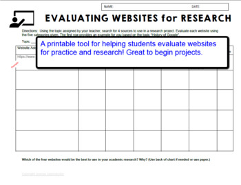 Evaluating Websites and Digital Media Worksheet by Laugh and Learn ...