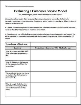 Evaluating a Customer Service Model Mini Project - Special Education/High School