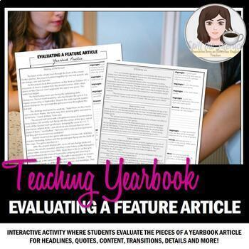 Evaluating a Feature Article for Yearbook and Journalism