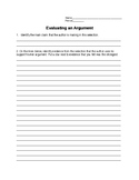 Evaluating an Argument Activity Sheet