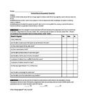 Evaluating an Argument Graphic Organizer and Checklist