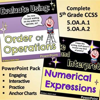 5th Grade Common Core Standard OA.2 Algebra Task Cards