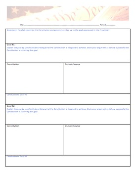 Evaluating the Constitution Deconstructed Essay Project