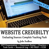 Evaluate Credibility & Validity of Online Sources Lesson, Complete Teaching Pack