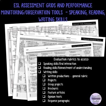 Speaking, Reading, Writing/ESL Competencies Evaluation/Assessment Grids
