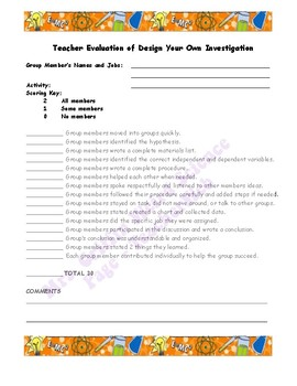Assessment-Design Your Own Investigation