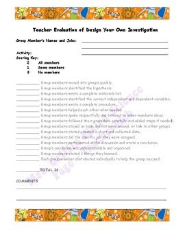 Assessment-Design Your Own Investigation