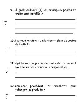 Évaluation / Examen 2 Nouvelle-France vers 1645