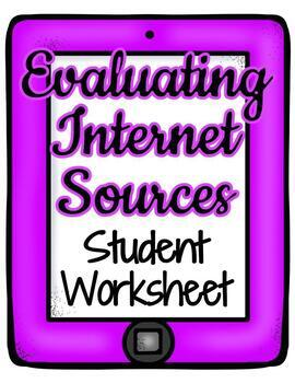 Evaluation of Internet Sources, Research Skills, Credibili