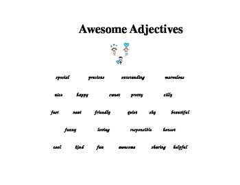 Evaluation Lesson Plan Adjectives