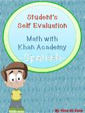 Evaluation- Math with Khan Academy progress- Student's Rubric Spanish