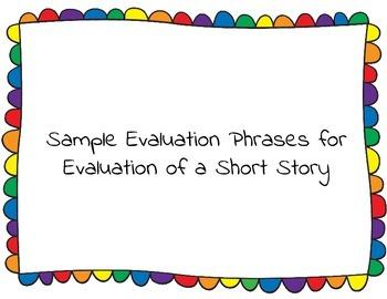 Evaluation Phrases
