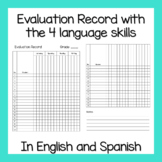 Evaluation Record with and the 4 language skills (In Engli