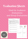 Evaluation Sheets