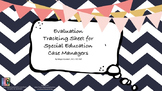 Evaluation Tracking Sheet for Special Ed./Speech
