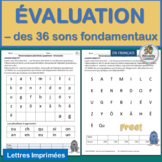 French Phonics Evaluation  des 36 sons fondamentaux   FREE