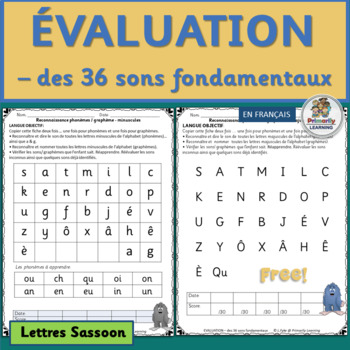 French Phonics Sound and Letter Record-keeping Tool (SASSOON Font)