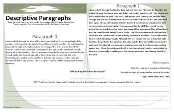 Evaluation of Descriptive Paragraphs