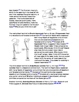 Evaluation of Human Evolution - A Common Core Activity