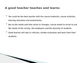 Evaluation of Teaching Methods