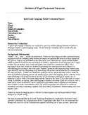Speech Therapy-Hearing Impaired- Deaf, Non-Verbal, Cochlear Implant report