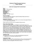 Speech Therapy-Articulation-Goldman Fristoe Test of Articu