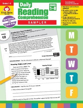 Evan-Moor Common Core Sample Lessons - Reading, Writing, Math
