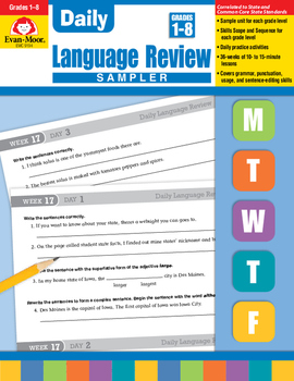 Daily Language Review Sample Lessons
