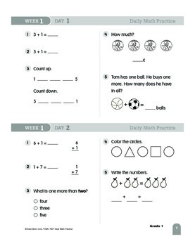Daily Math Practice Sample Lessons