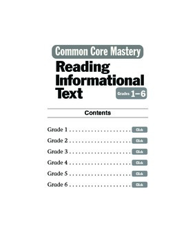 Reading Informational Text Sample Lessons