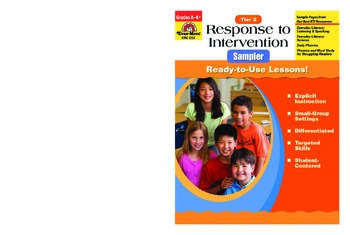 Response to Intervention Sample Lessons