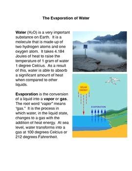Evaporation Common Core Activity
