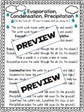 Evaporation, Condensation, Precipitation Poem Detective