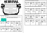 Evaporation & Condensation Survival Activity and text for