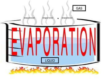 Evaporation Condensation Vocabulary Science Poster ELL