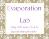 Evaporation Lab