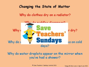 Evaporation and Condensation / Changing States of Matter PowerPoint